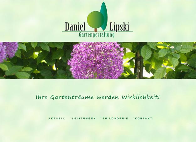 Startseite von Daniel Lipski Gartenbau