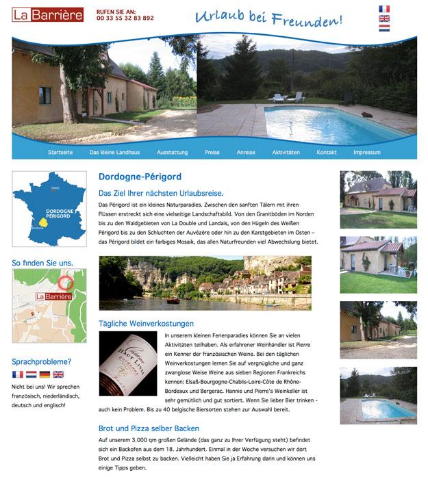 Startseite La Barriere - Urlaub bei Freunden