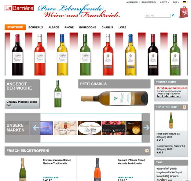 WebShop Pure Lebensfreude - Weine aus Frankreich