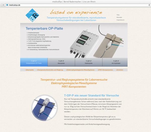 Neuer Internetauftritt von medicalSys