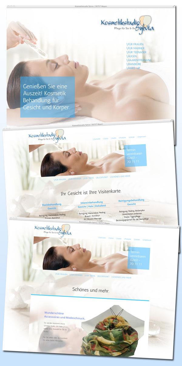 Die neuen Internetseiten des Kosmetikstudios in Mayen.