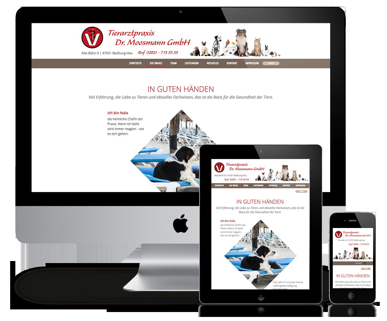 Responsive Website Tierarzt Dr. Moosmann GmbH