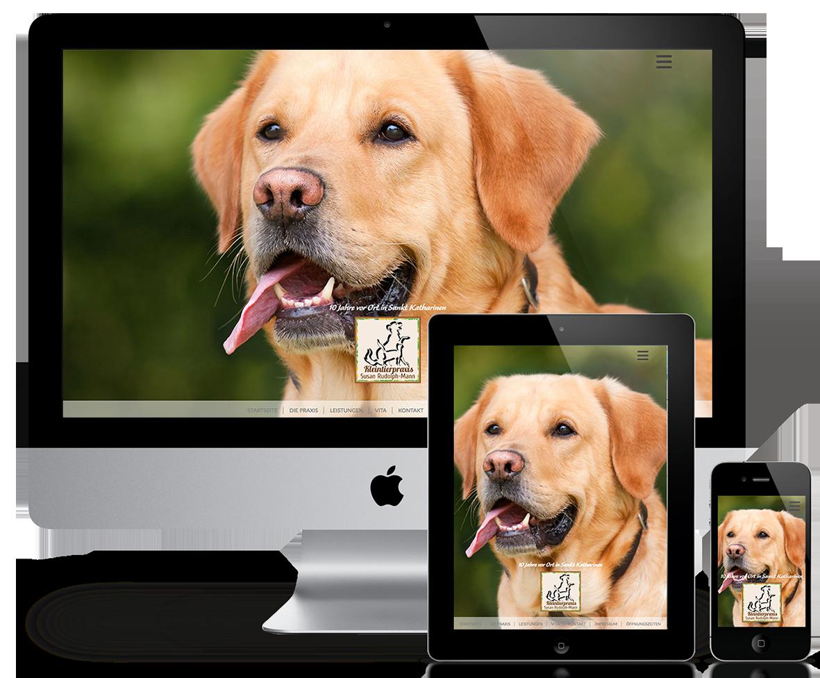 Website der Tierarztpraxis Susan Rudolph-Mann