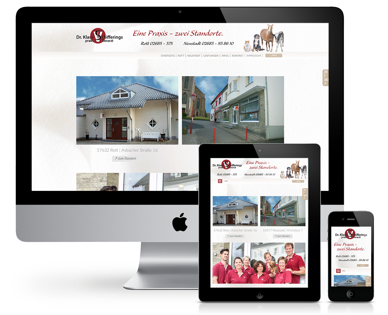 Responsive Website Tierarztpraxis Dr. Schifferings