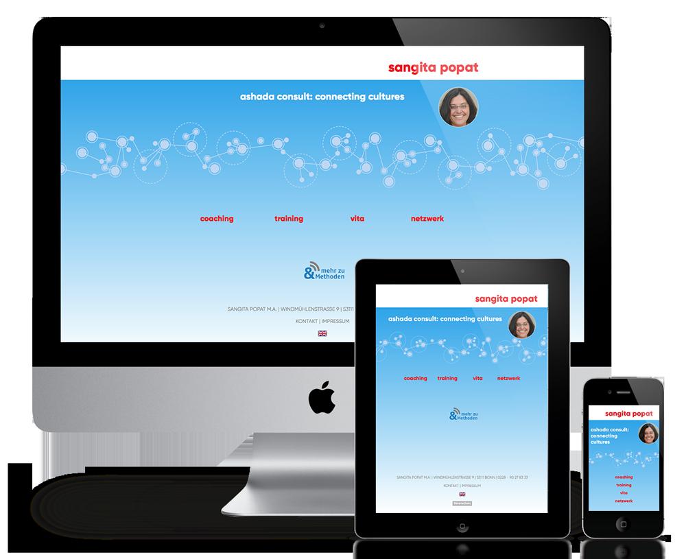 Responsive Website für ashada consult