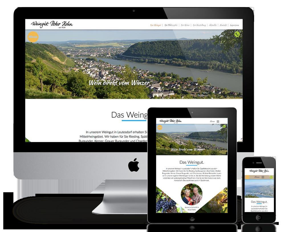 Responsive WebSite für Weingut Peter Hohn