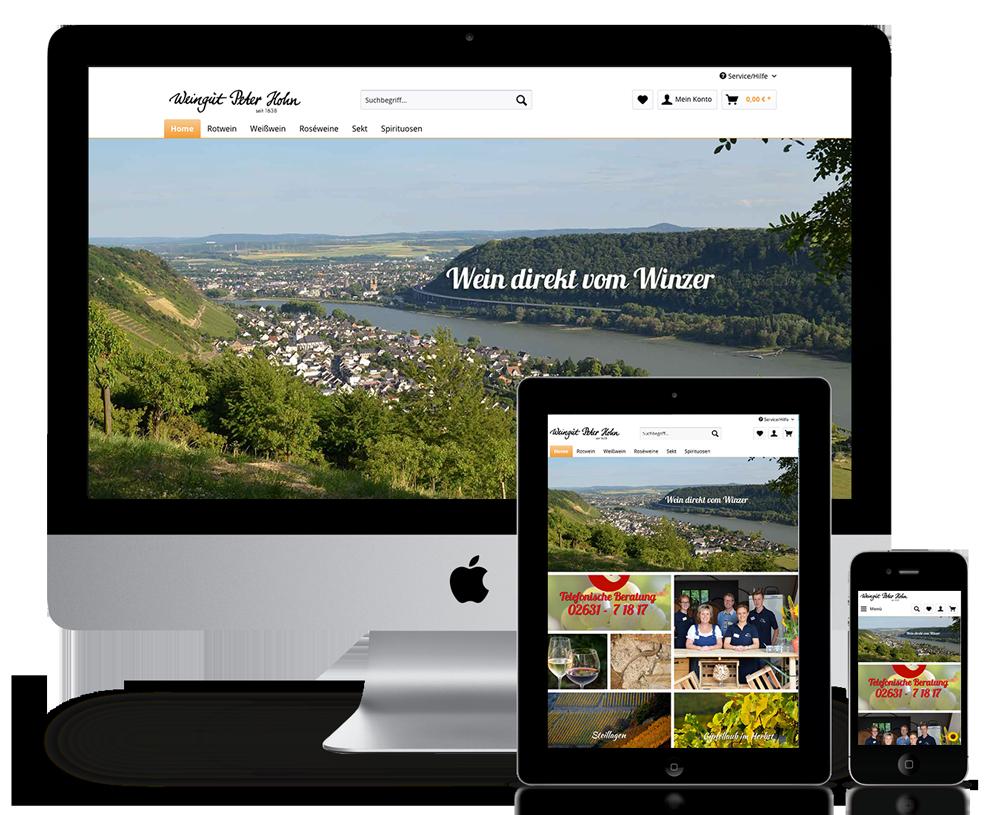 Onlineshop Weingut Peter Hohn